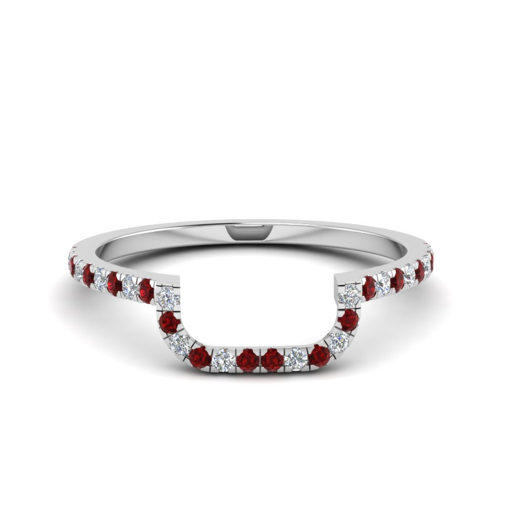 Curved Diamond Band For Women