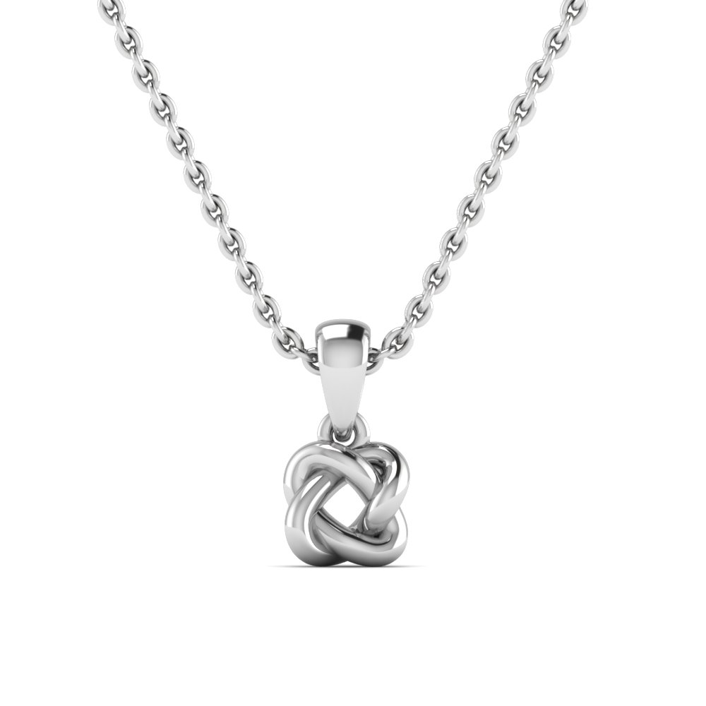 White Gold Love Knot Pendant