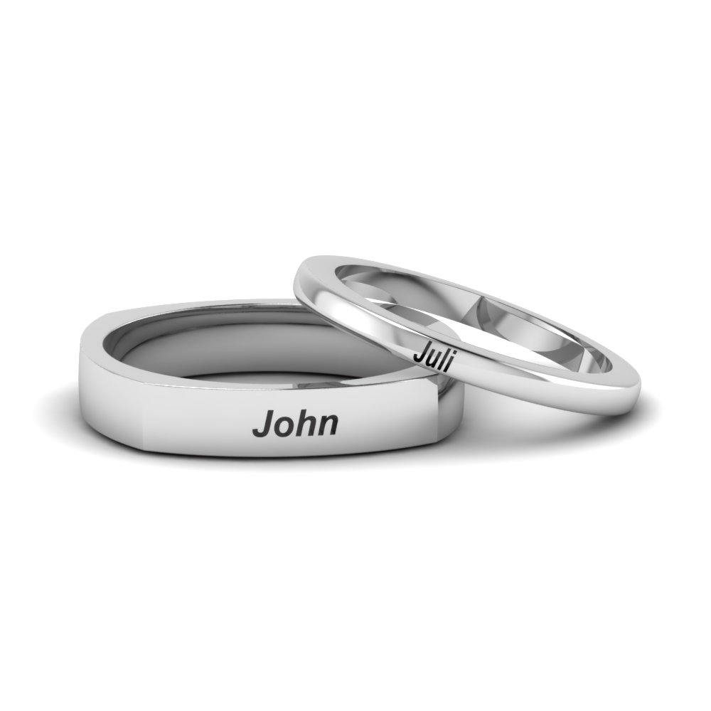 Wedding Bands For Bride & Groom