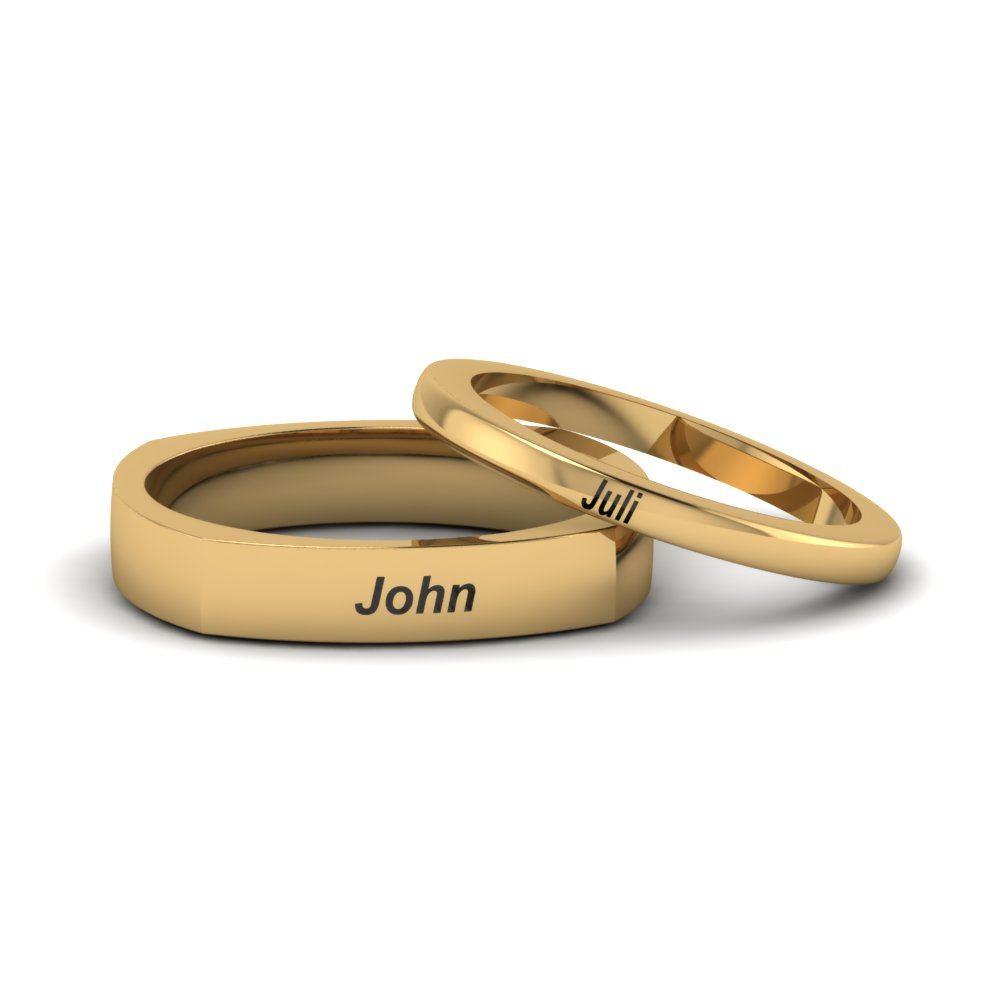 Gold Matching Wedding Bands For Bride And Groom