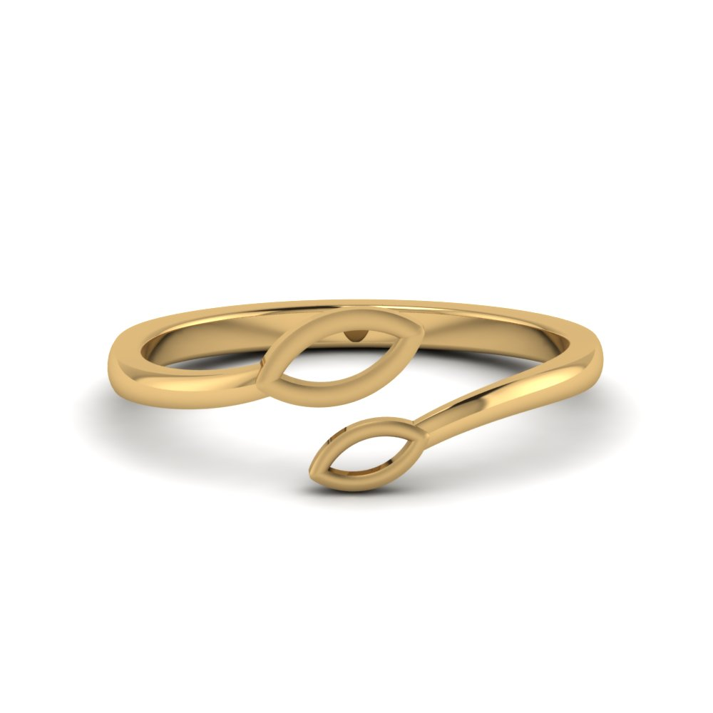 Open Petal Gold Ring