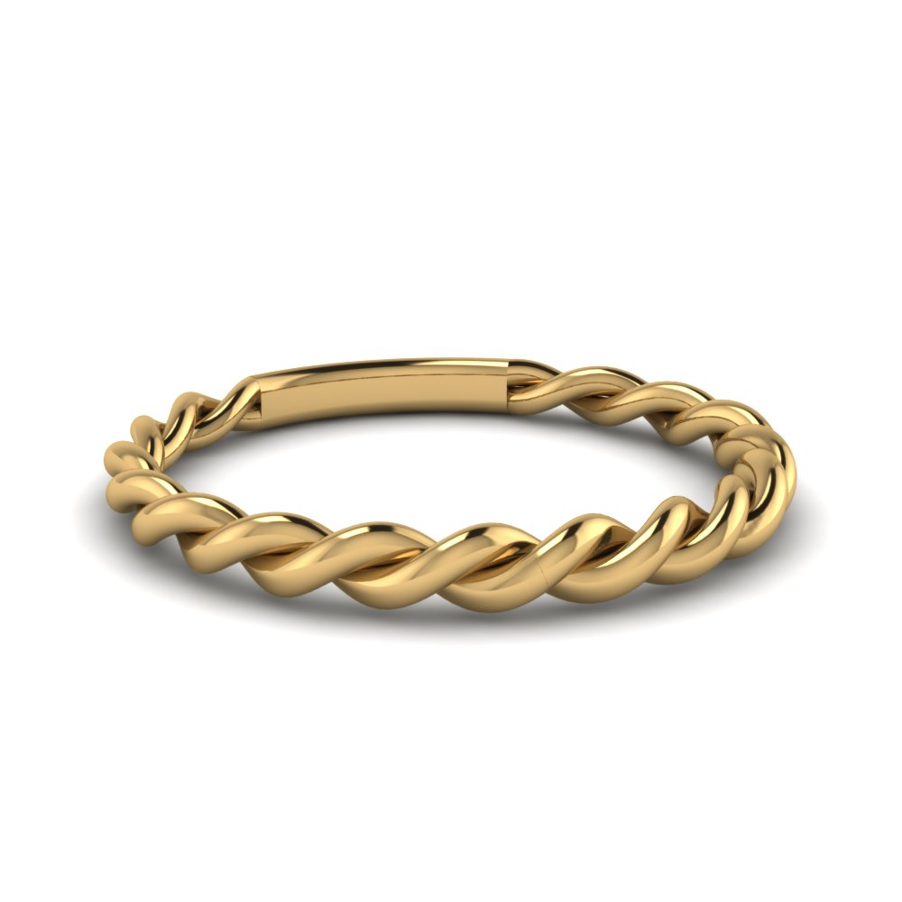 Braided Shank Wedding Band