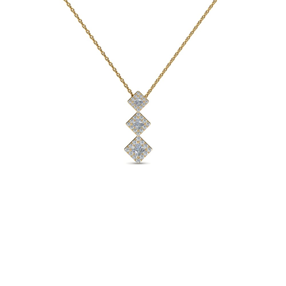 gifts graduated anniversary v with pin diamonds shaped diamond necklace in