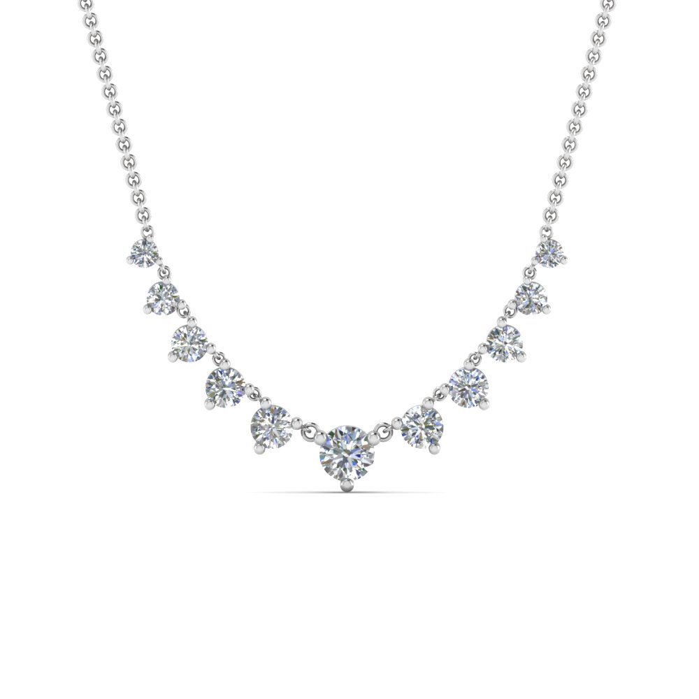 graduated-diamond-necklace-in-FDNK9194ANGLE2-NL-WG