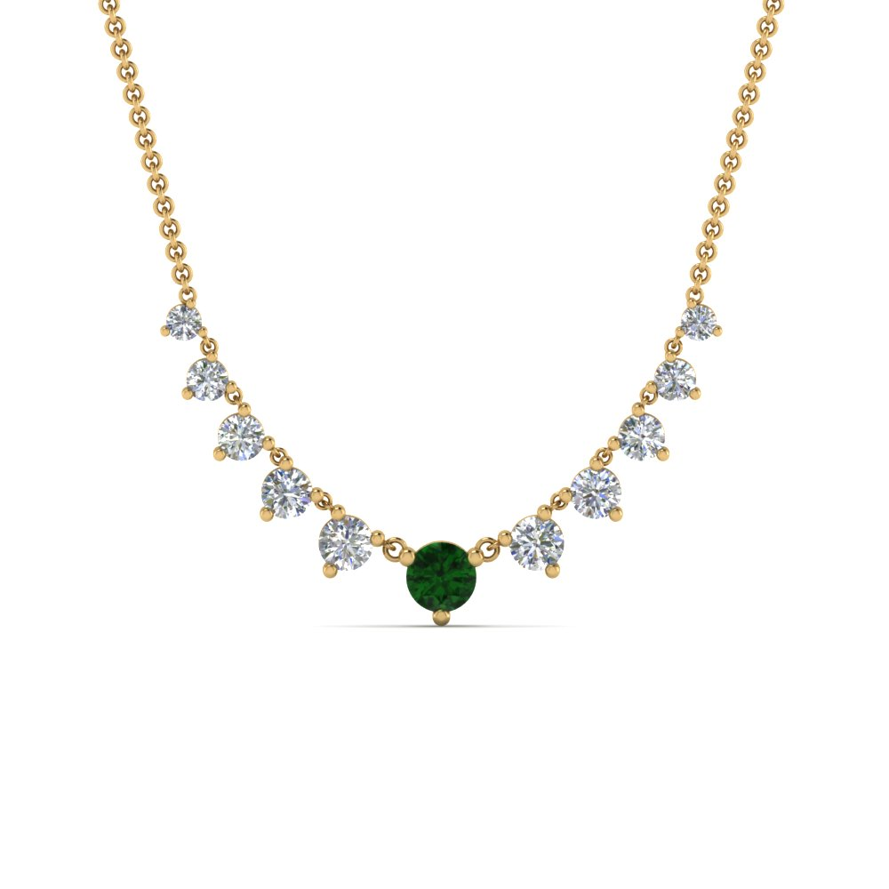 graduated-diamond-necklace-with-emerald-in-FDNK9194GEMGRANGLE2-NL-YG