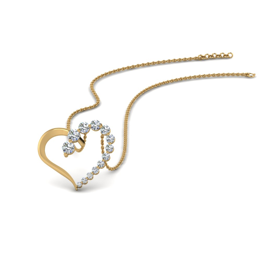 Graduated Diamond Heart Pendant