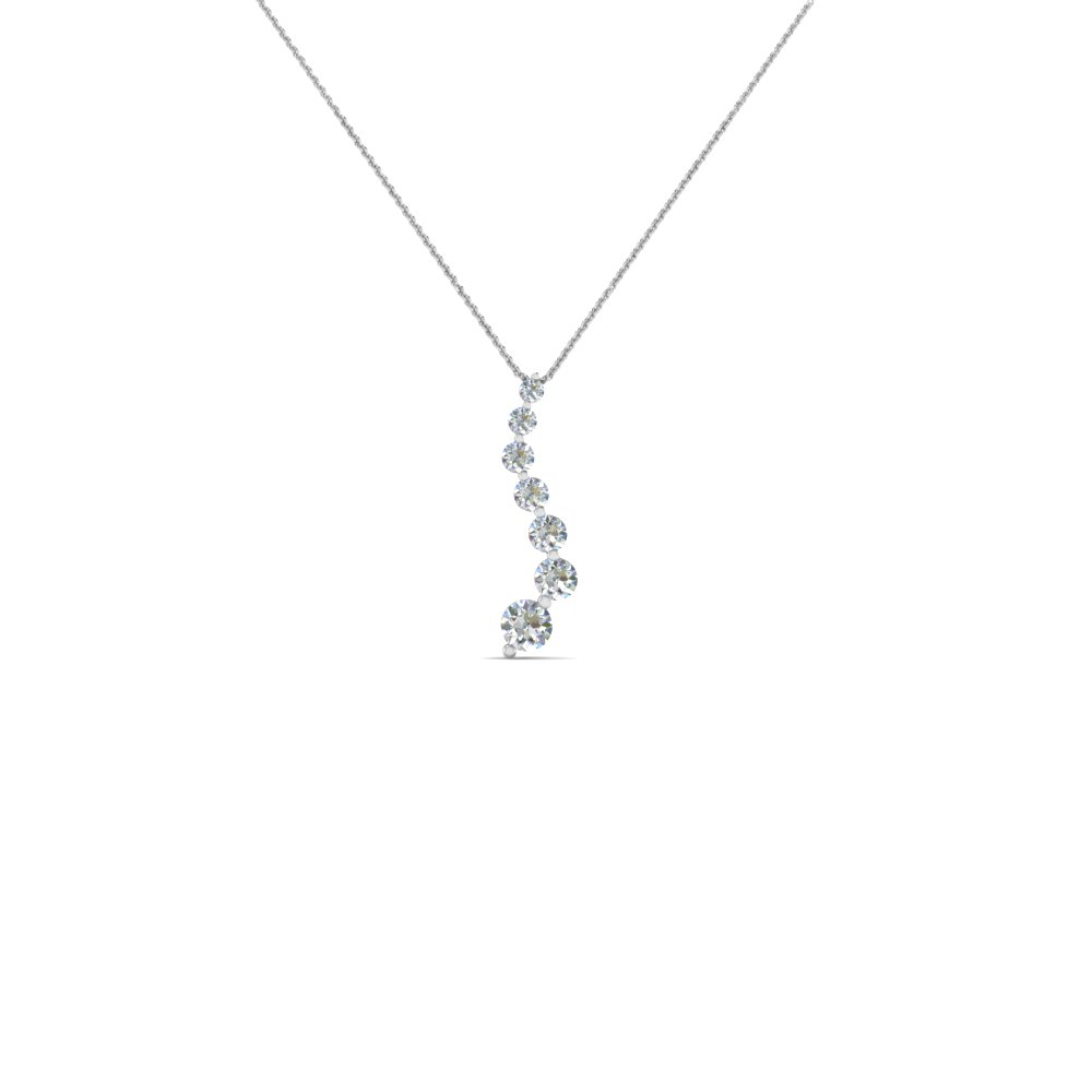 graduated diamond pendant for women in 14K white gold FDPD1704 NL WG