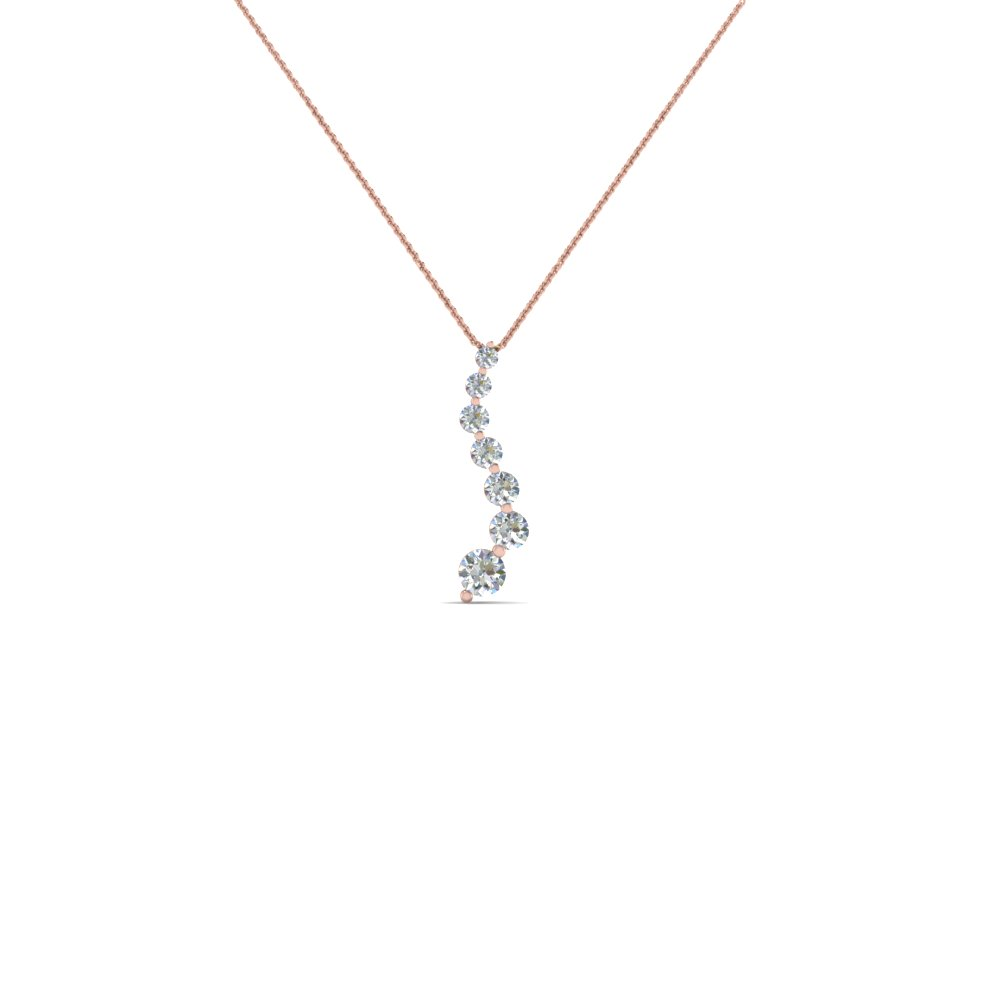 graduated diamond pendant for women in 18K rose gold FDPD1704 NL RG