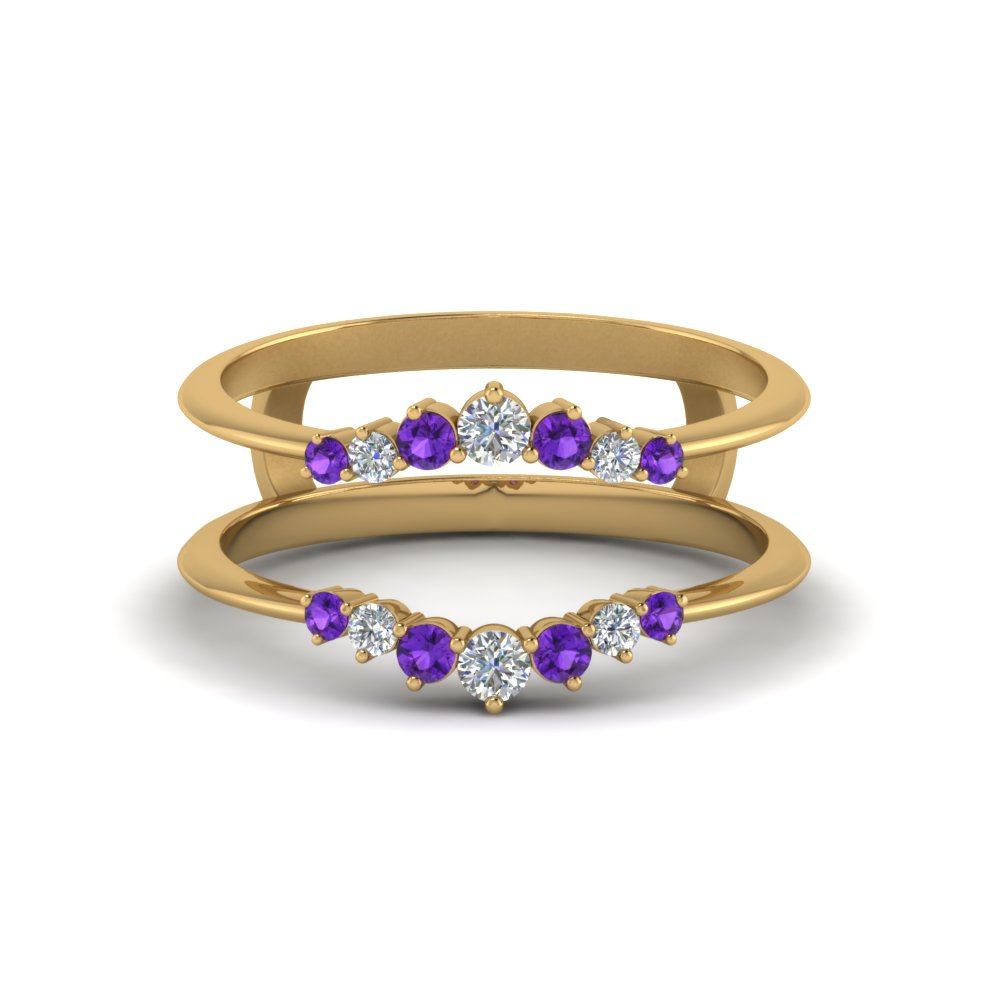 Graduated Purple Topaz Ring Guards