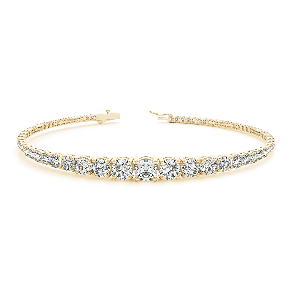 bracelet luxurman mainwh by g ladies gold gvs vs unique diamond