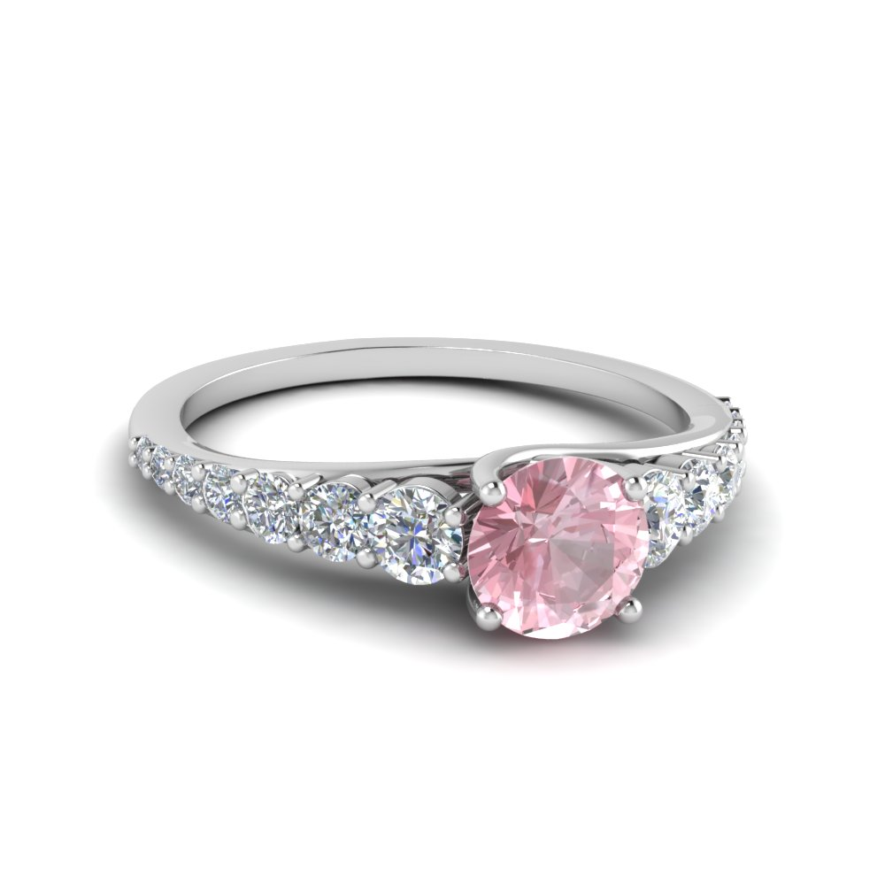 Floating Round Morganite Ring