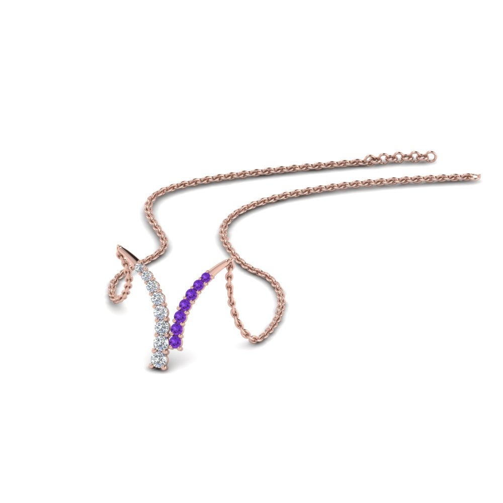 Modern Diamond Pendant Necklaces