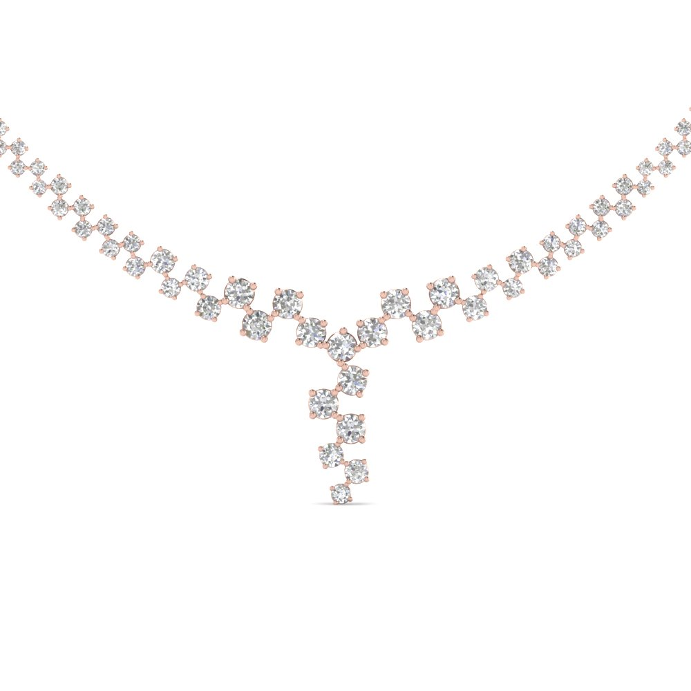 Single Line Drop Diamond Necklace