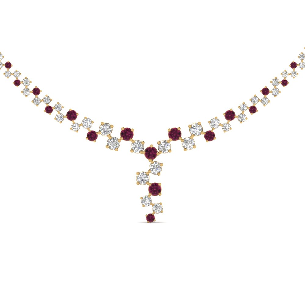 Expensive Pink Sapphire Necklaces