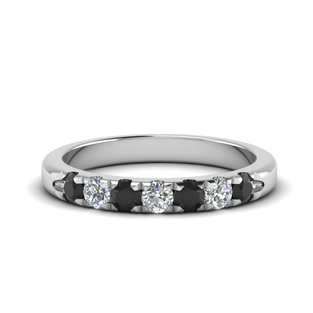 half-carat-7-stone-wedding-anniversary-ring-with-black-diamond-in-FD123881RO(2.50MM)GBLACK-NL-WG