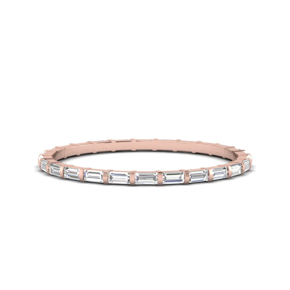18K Rose Gold Half Carat Eternity Band