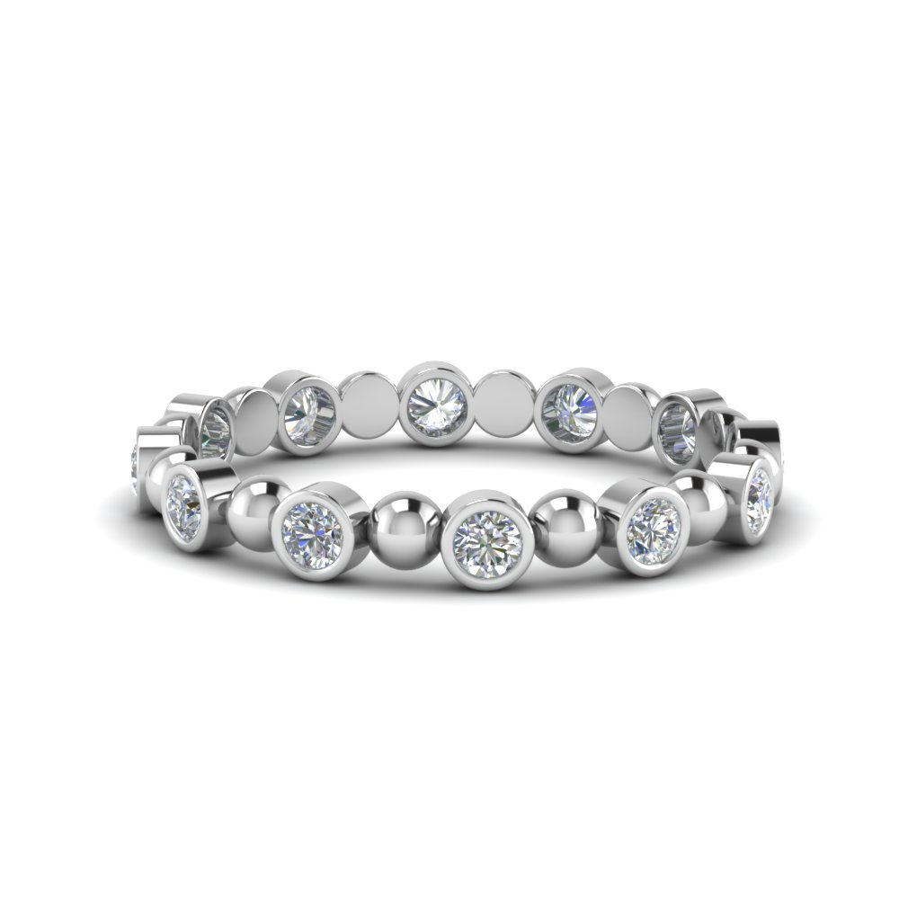 Half Carat Bead Diamond Band