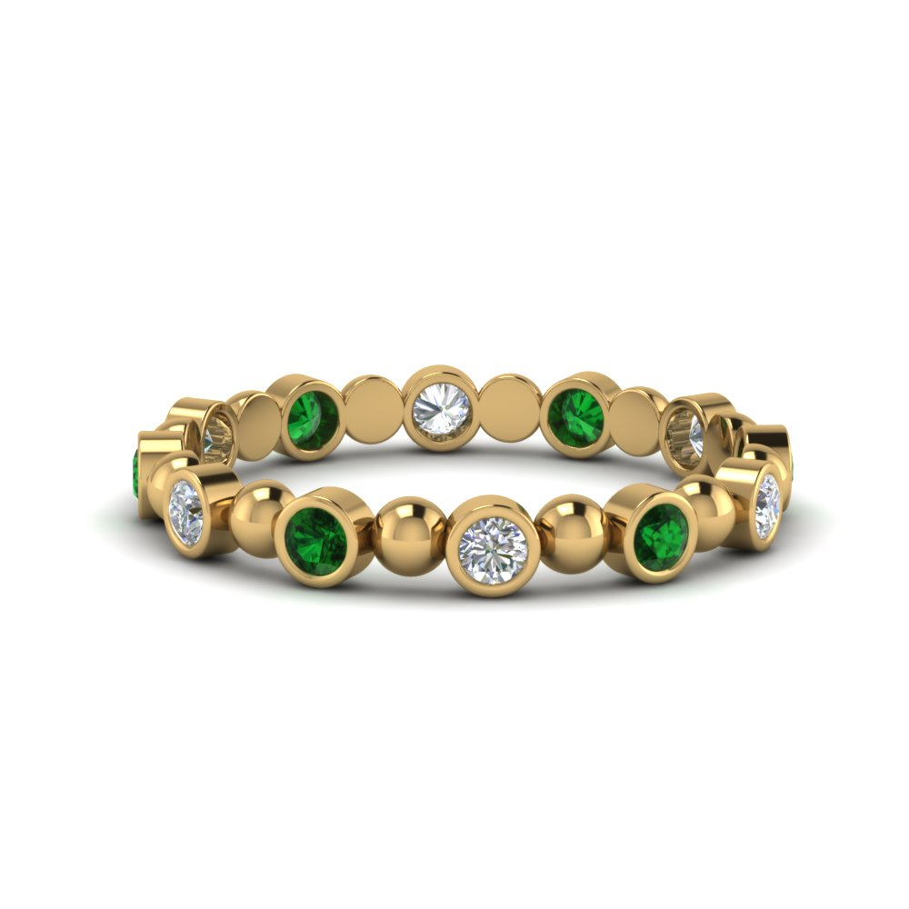 Womens Emerald Eternity Band