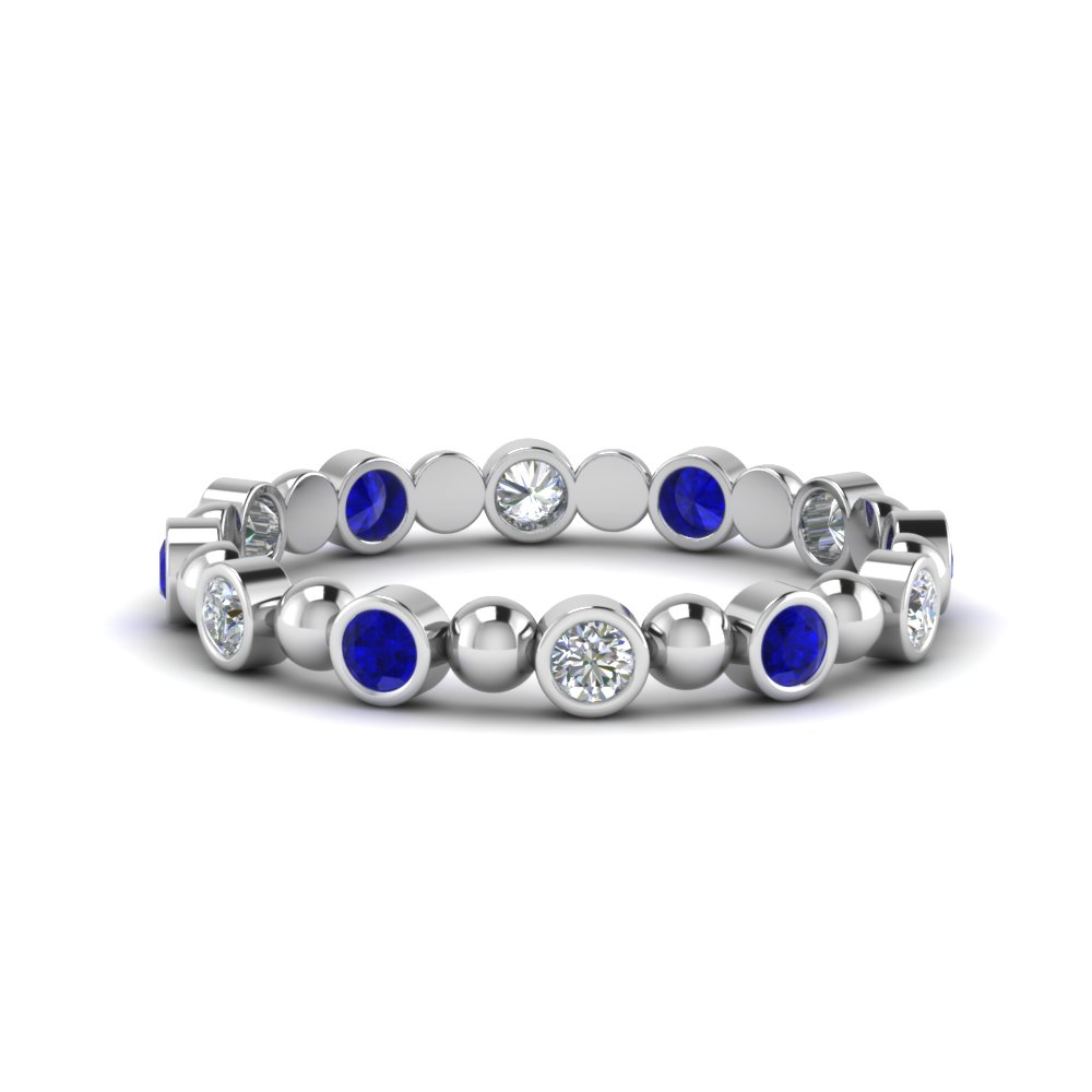Half Carat Bead Design Band
