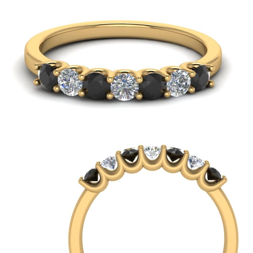 Delicate Black Diamond Band