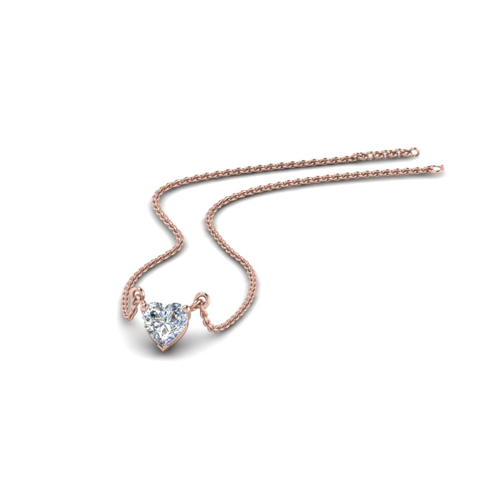 Half Carat Single Diamond Pendant
