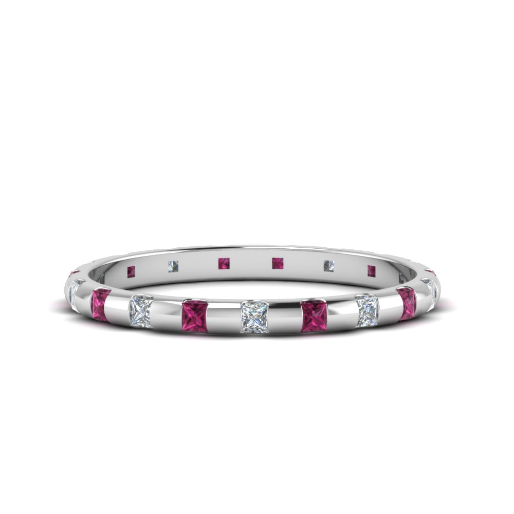 Half Ct. Pink Sapphire Eternity Band