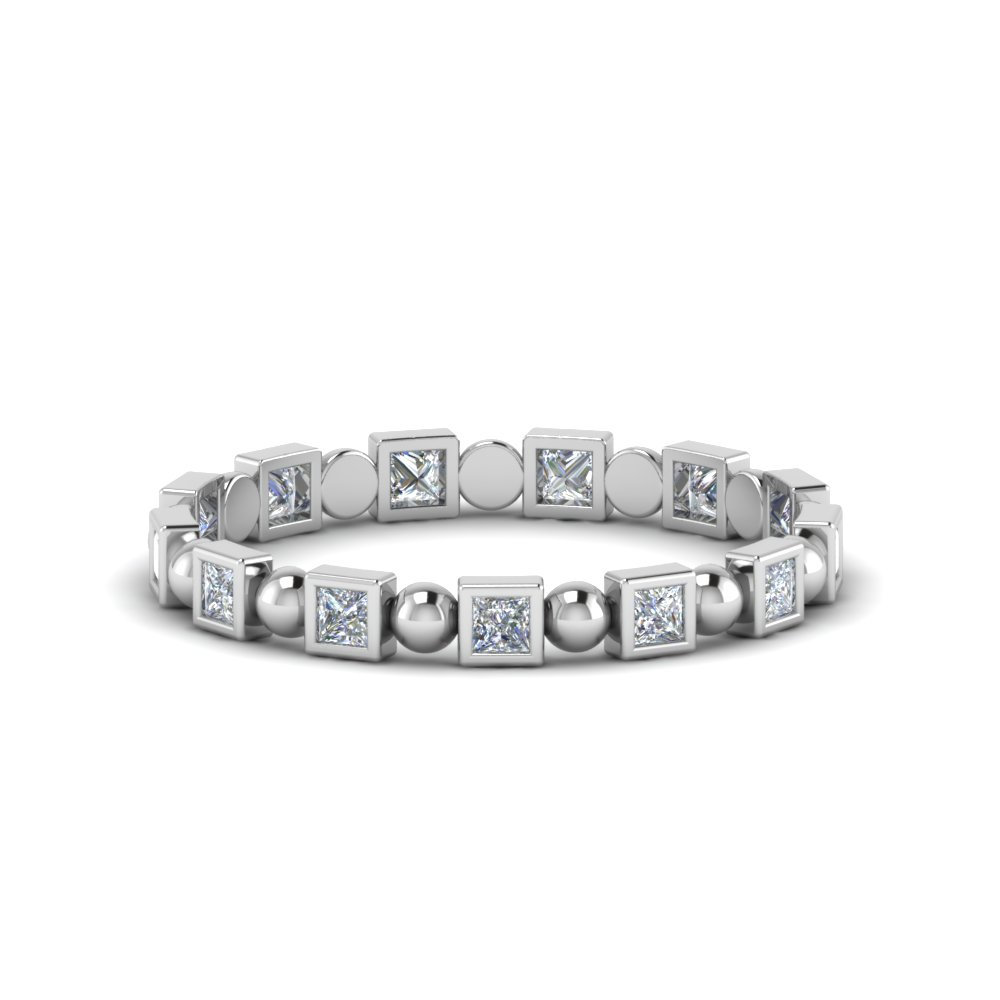 Half Carat Bead Eternity Band