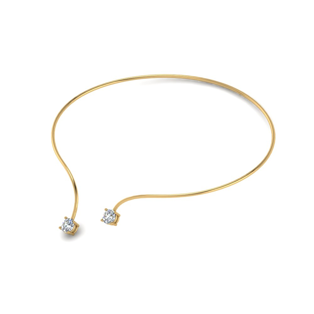 Half Carat Open Bangle Necklace