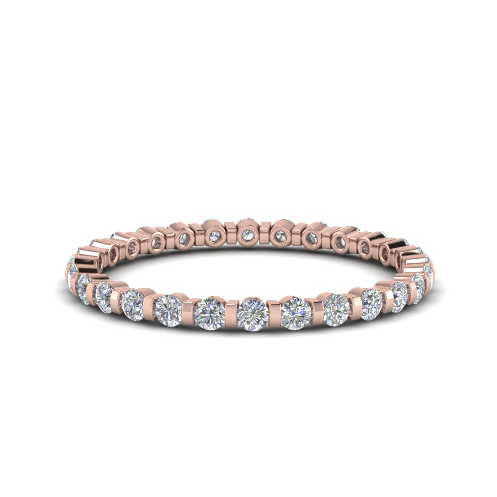 Half Carat Diamond Bar Set Eternity Band