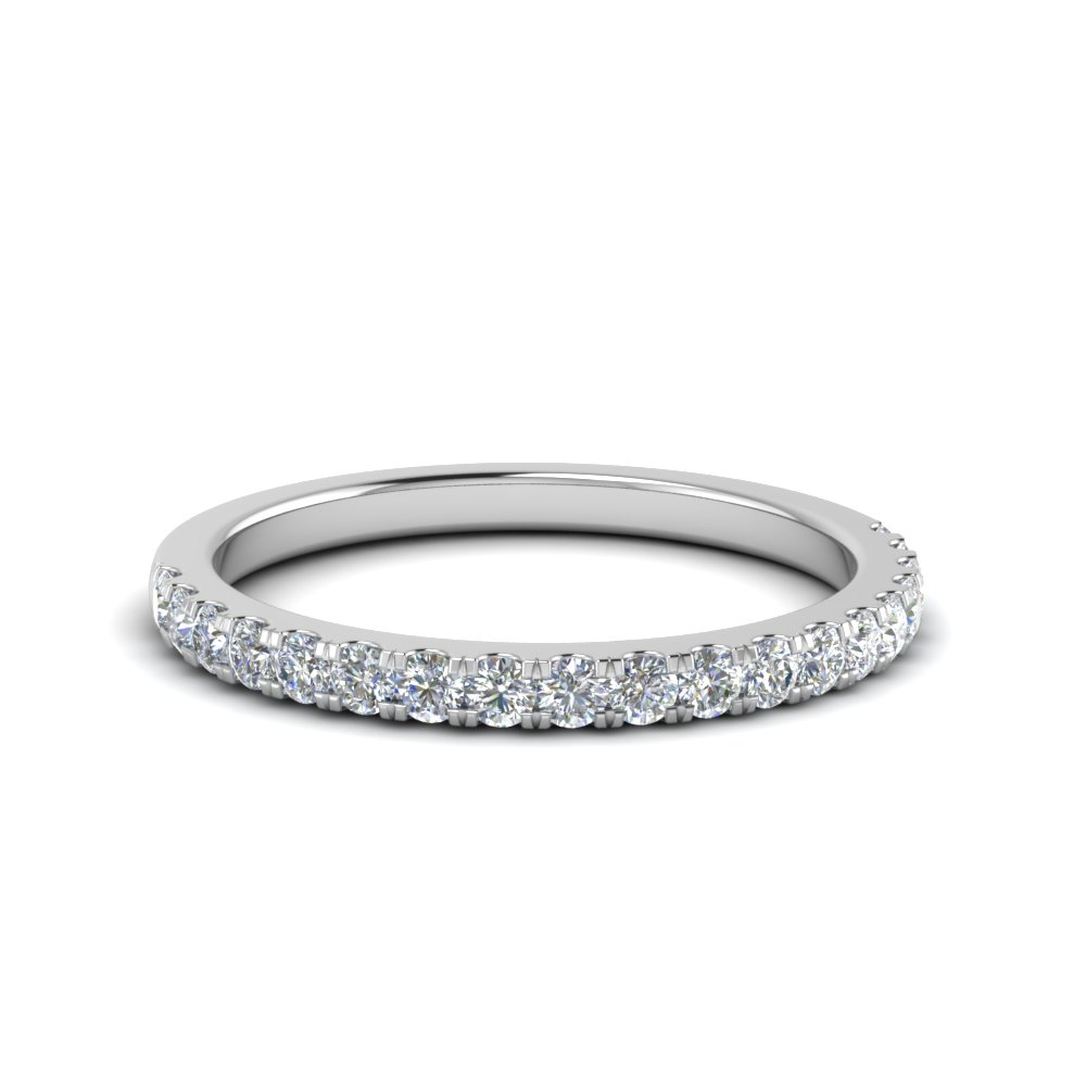 half carat round diamond delicate band in 14K white gold FD8370 0.50CTB NL WG