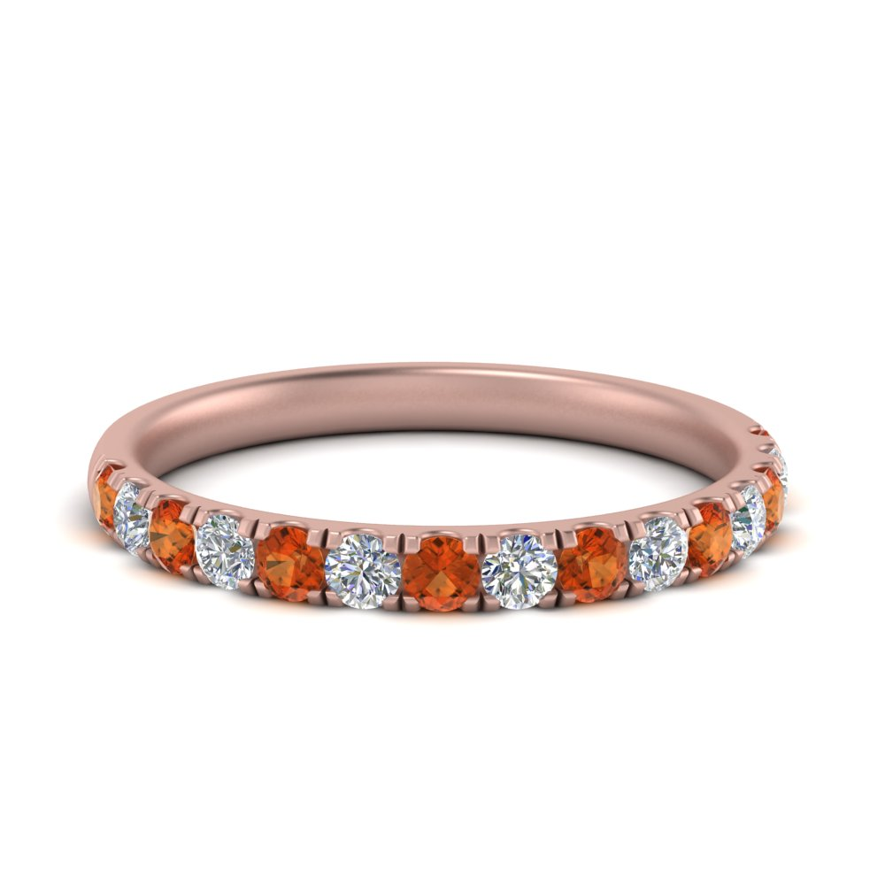 half-carat-scalloped-pave-diamond-wedding-ring-for-women-with-orange-sapphire-in-FD9330(0.50CT)GSAOR-NL-RG
