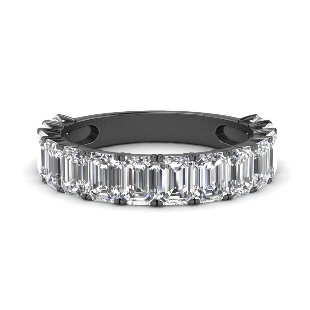 Half Eternity Emerald Cut Band
