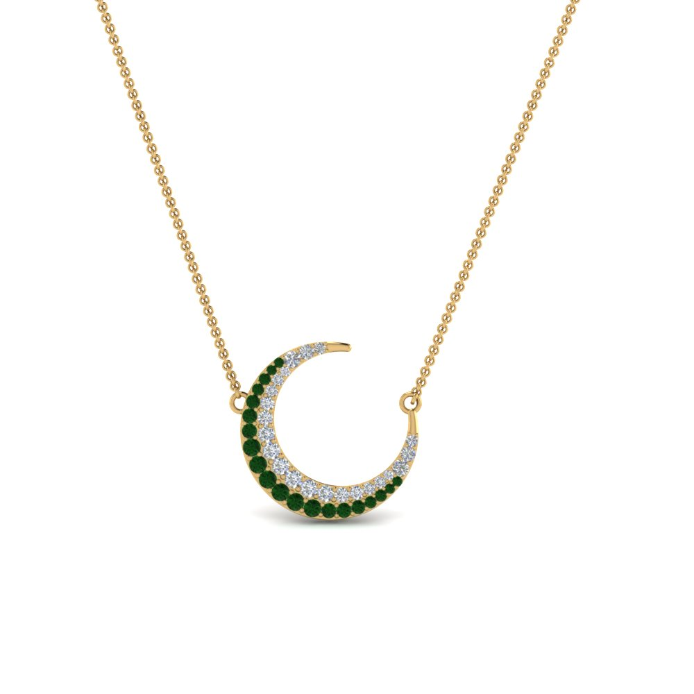 moon-necklace-diamond-pendant-with-emerald-in-FDPD9197GEMGRANGLE1-NL-YG