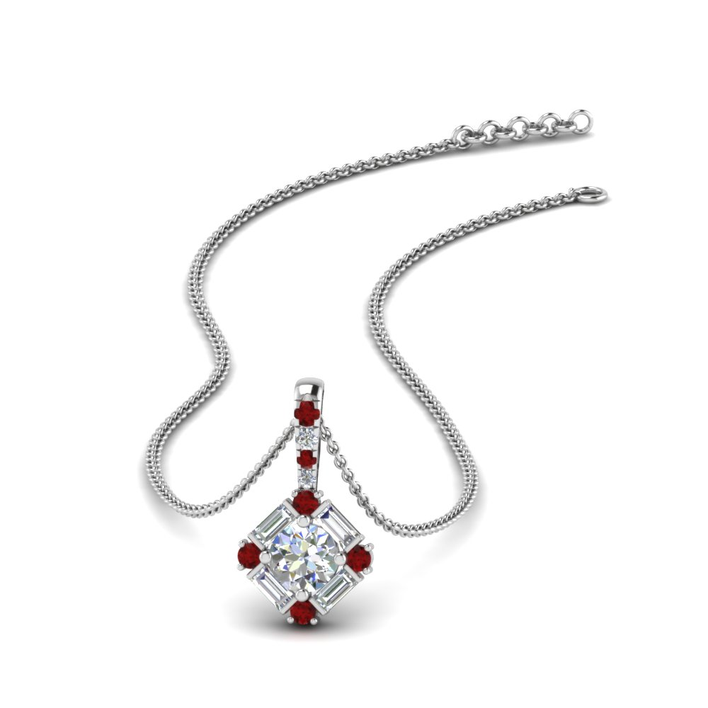 halo baguette diamond pendant-with-ruby-in-FDPD242GRUDR-NL-WG