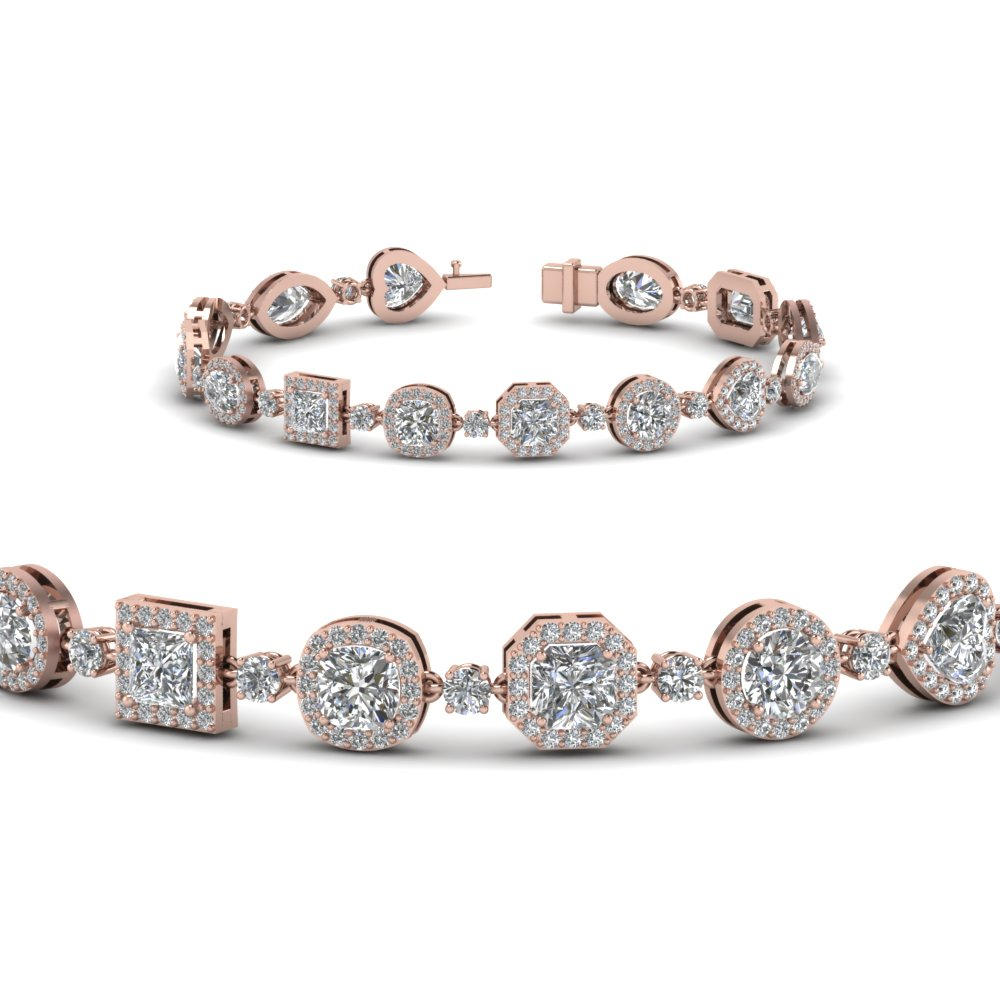 Halo Diamond Bracelet For Women