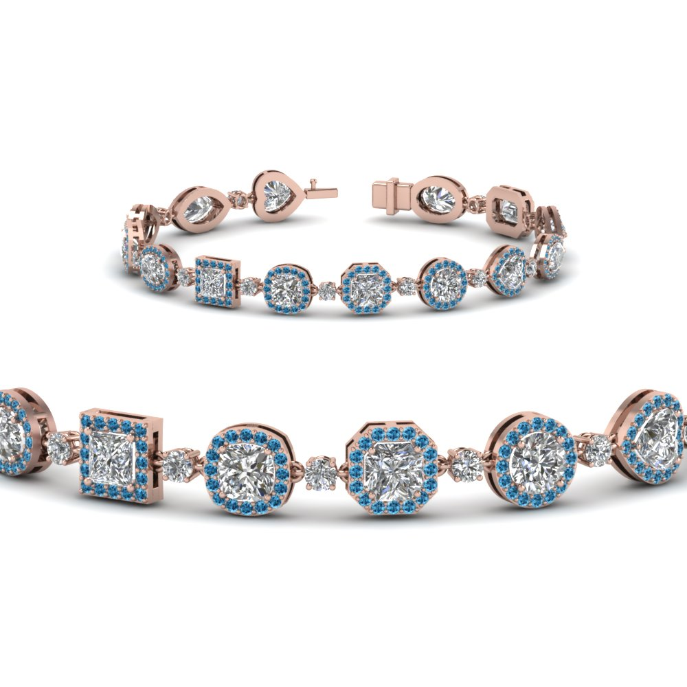 Diamond Shaped Blue Topaz Bracelet