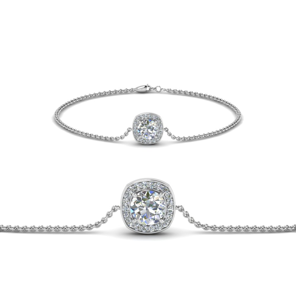Halo Chain Diamond Bracelet