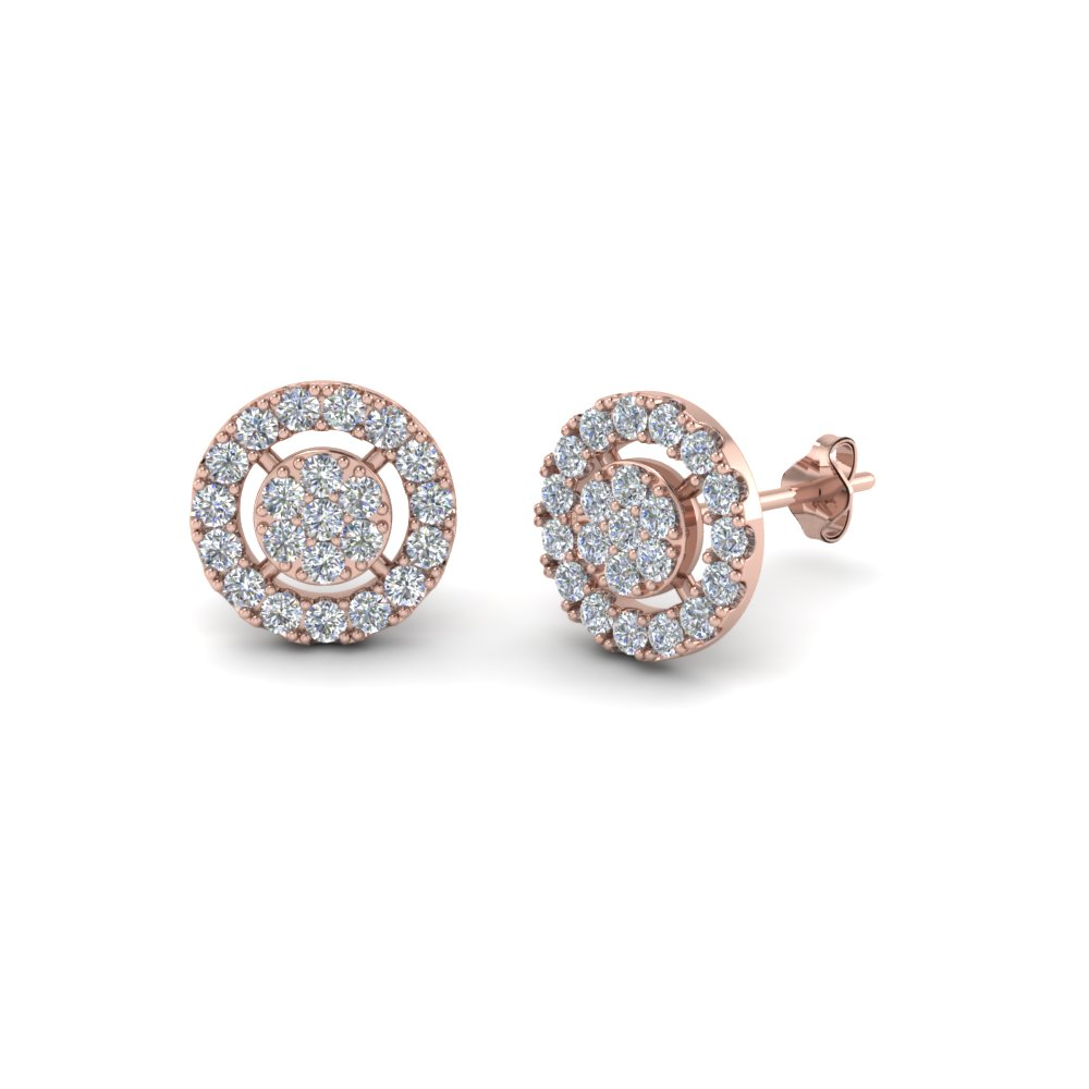 halo diamond cluster earring in FDEAR8500 NL RG