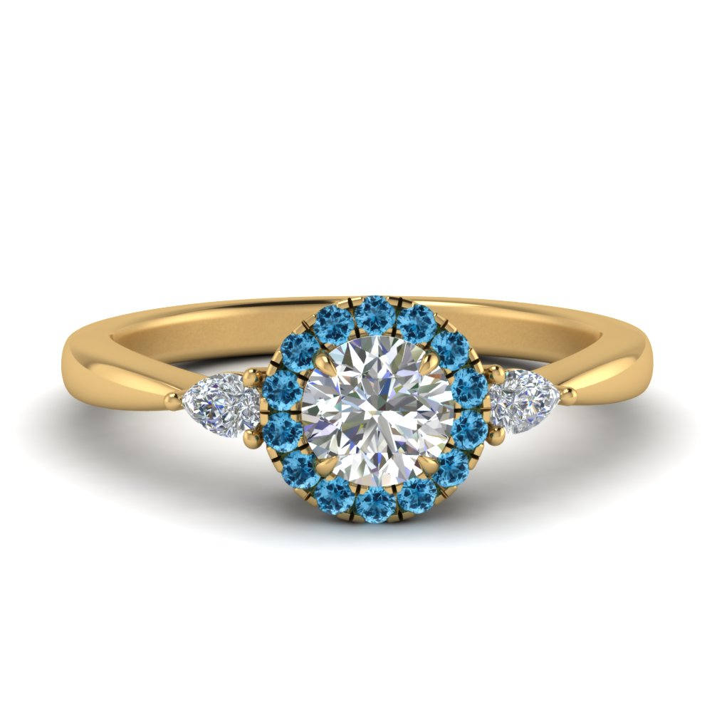 halo-diamond-ring-pear-accent-with-blue-topaz-in-FD9211RORGICBLTO-NL-YG