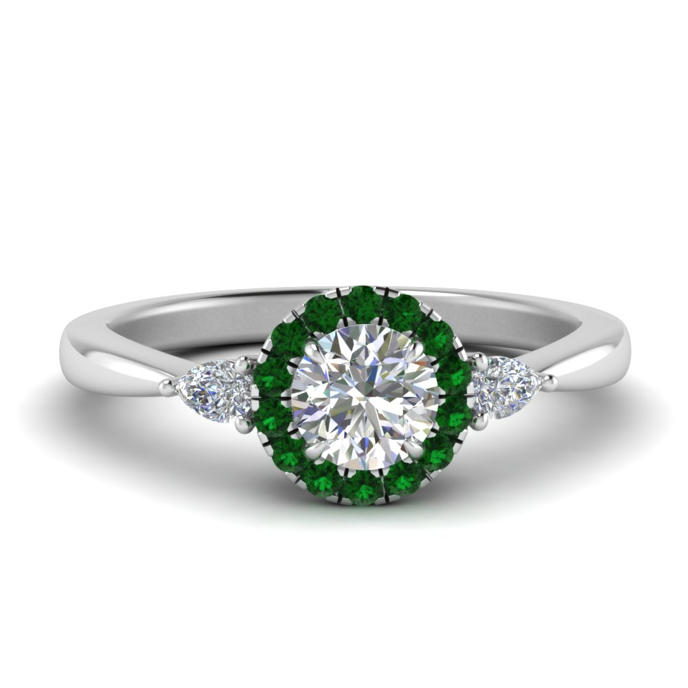 halo-diamond-ring-pear-accent-with-emerald-in-FD9211RORGEMGR-NL-WG