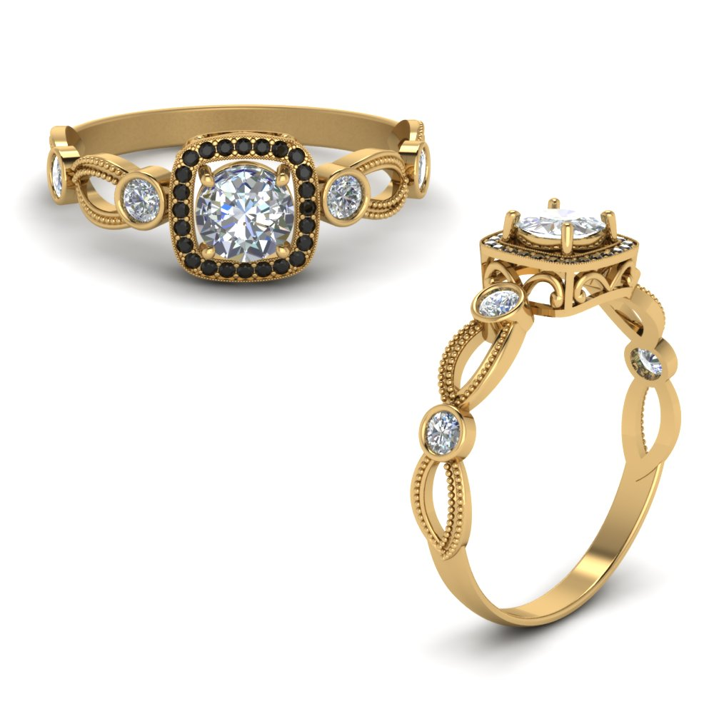 halo mom ring with black diamond in FD8590RORGBLACKANGLE1 NL YG.jpg