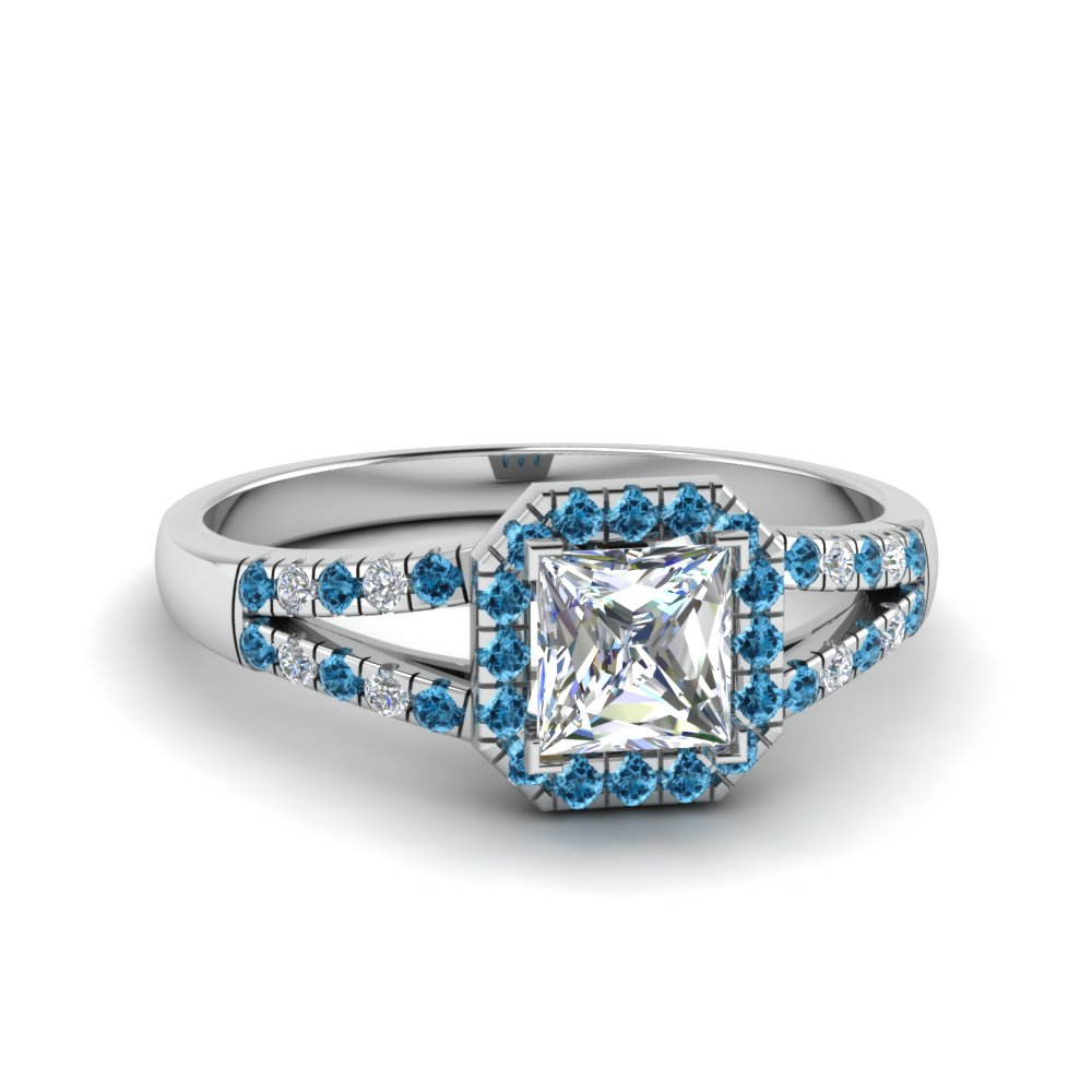 Topaz Halo Womens Diamond Rings