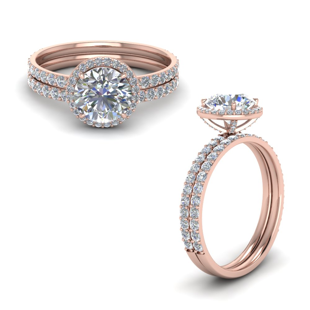 Round Diamond Bridal Ring Set