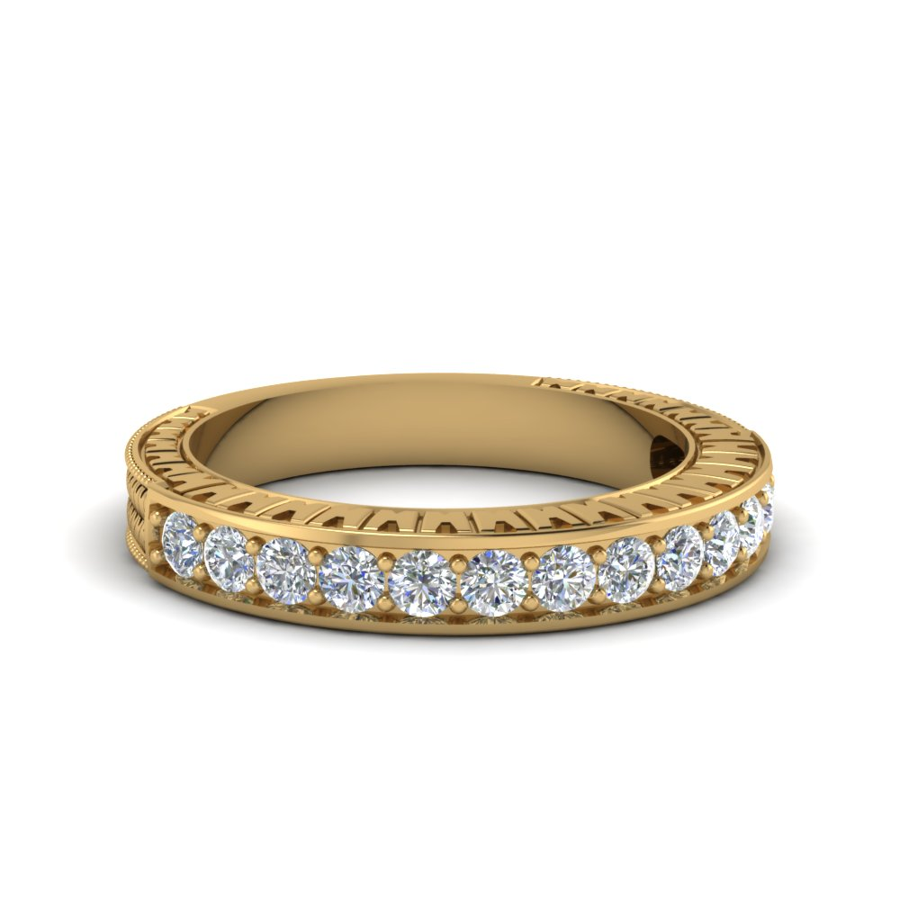 Pave Diamond Contour Band