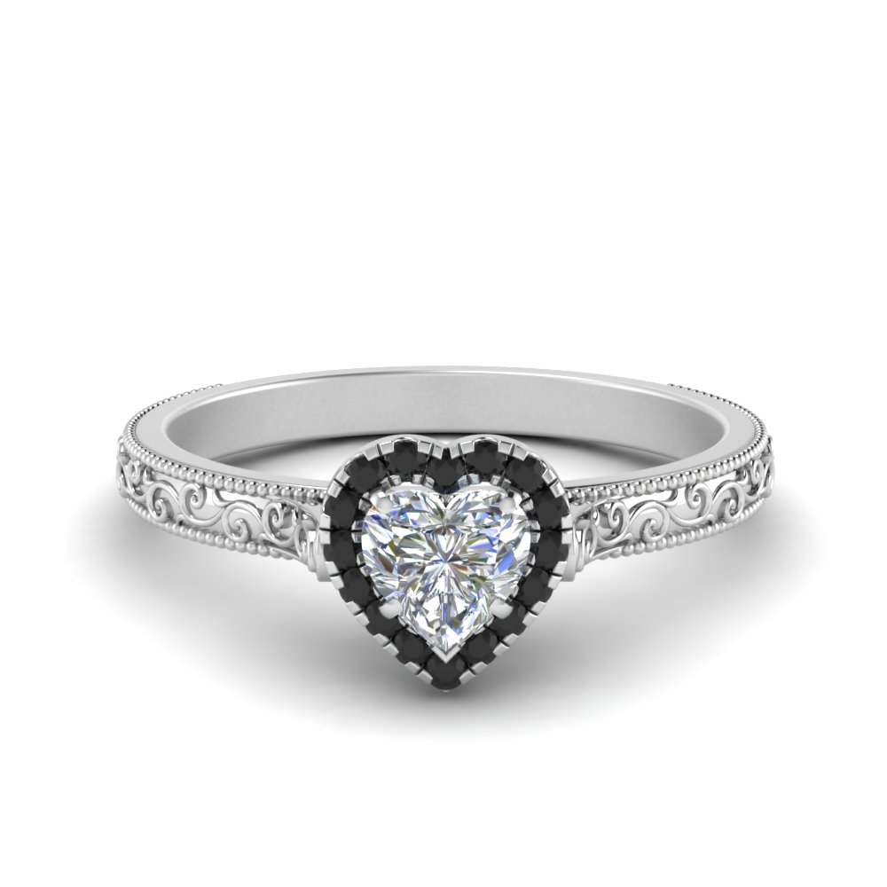 Black Diamond Vintage Engagement Rings | Fascinating Diamonds