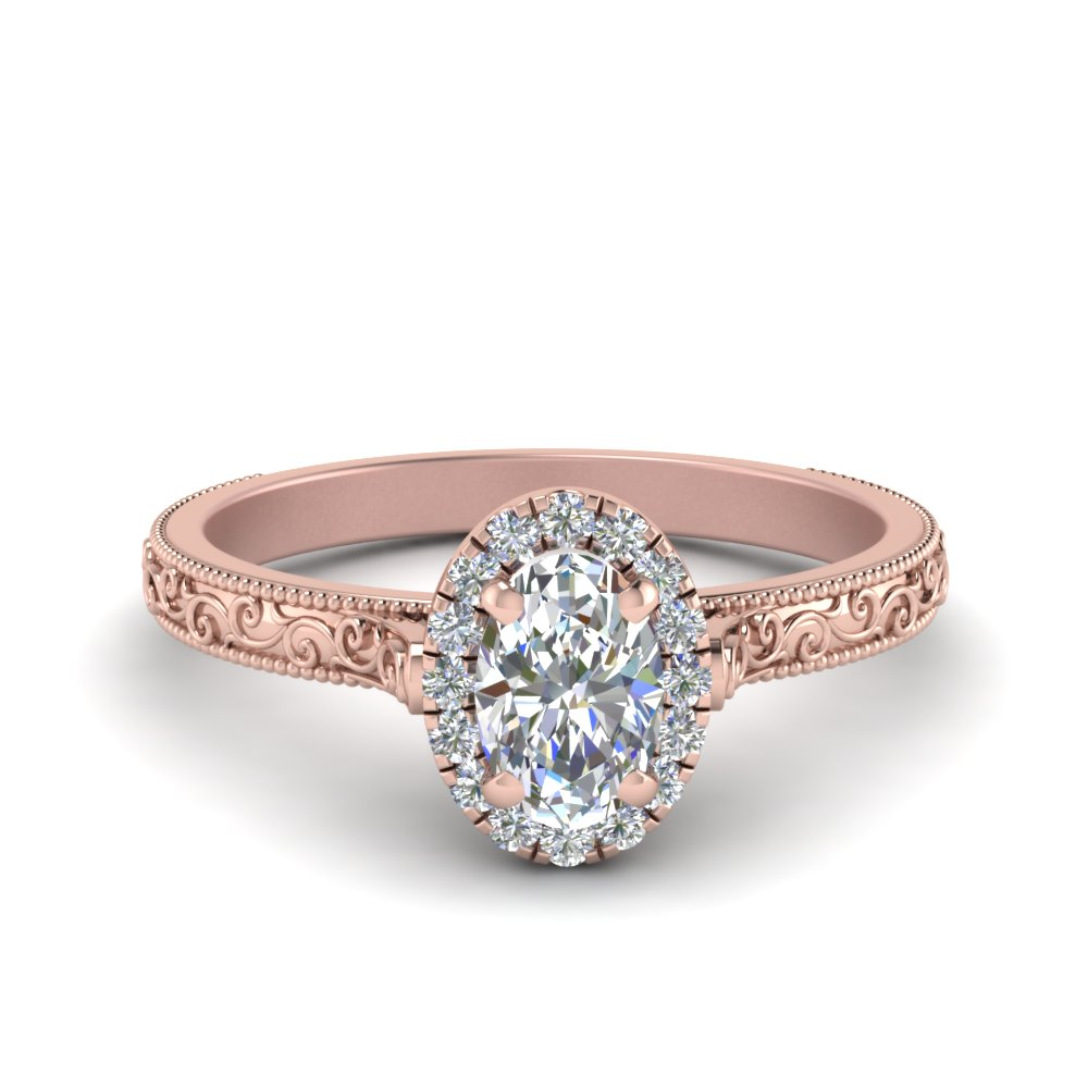 buy affordable vintage rose gold engagement rings online
