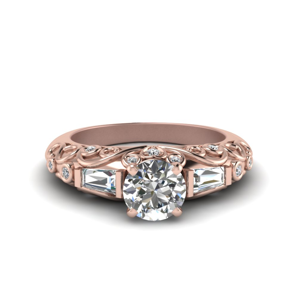 Rose Gold Vintage Diamond Rings