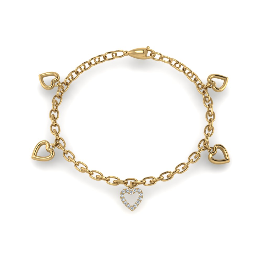 heart-charm-diamond-bracelet-gifts-in-FDBRC8652ANGLE2-NL-YG