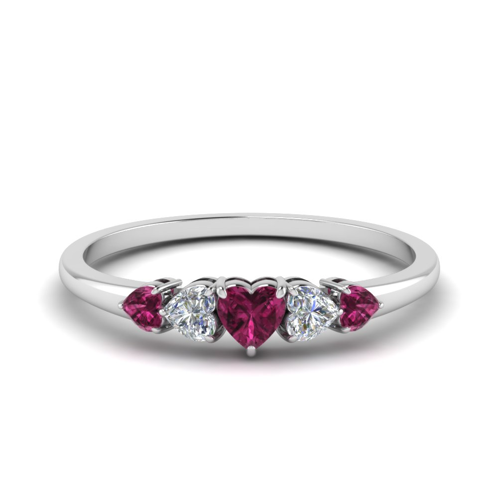 tw carat diamond clarity rings shape ring ct wedding fancy pink certified heart gia purple