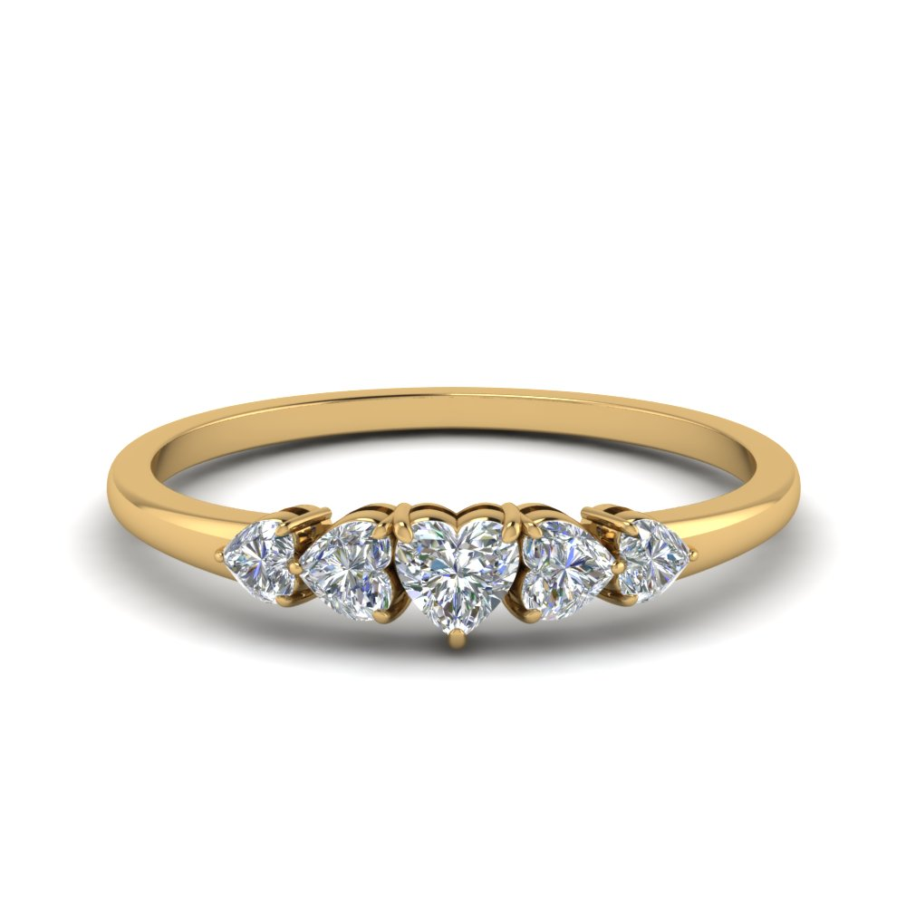1.75 Ct. Five Stone Heart Diamond Ring